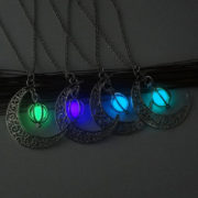 Fashion-Women-s-stone-shine-moon-Charm-Luminous-Stone-necklaces-Pendants-fashion-wholesale-jewelry-Statement-Necklace