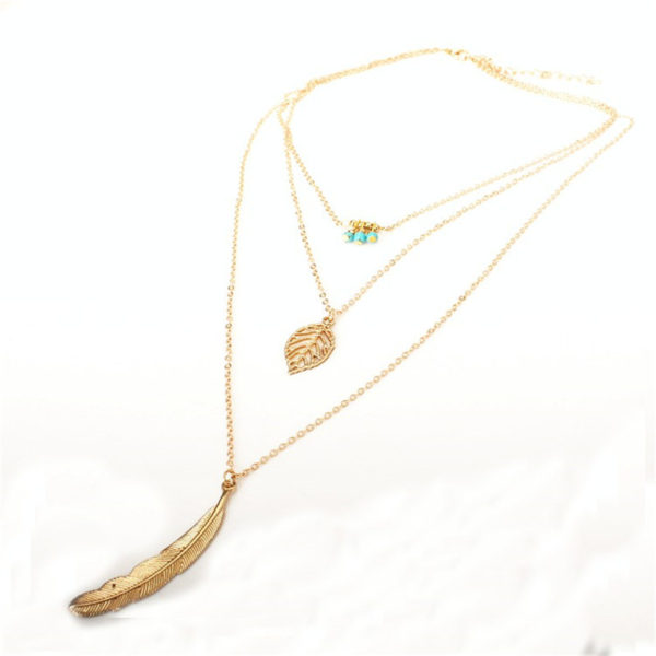 MissCyCy-Fashion-Simple-Necklaces-Leaf-Long-Pendant-Necklaces-3-Layer-Chain-Necklace-multilayer-Necklaces