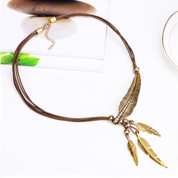 Necklace alloy feather statement necklaces pendants vintage rope necklace alloy feather statement necklaces pendants vintage rope aloadofball Choice Image