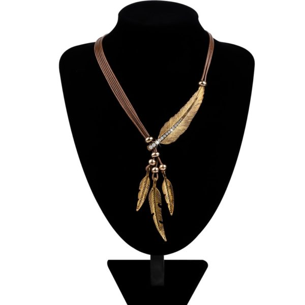 Necklace alloy feather statement necklaces pendants vintage rope necklace alloy feather statement necklaces pendants vintage rope mozeypictures Images