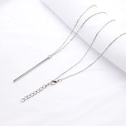 Simple-Classic-fashion-Stick-Pendant-Necklace-Hollow-Girl-Long-Link-Chain-Square-Copper-Necklaces-long-Strip (3)
