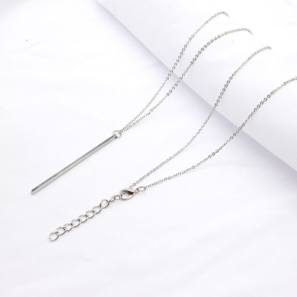 Simple-Classic-fashion-Stick-Pendant-Necklace-Hollow-Girl-Long-Link-Chain-Square-Copper-Necklaces-long-Strip (3)